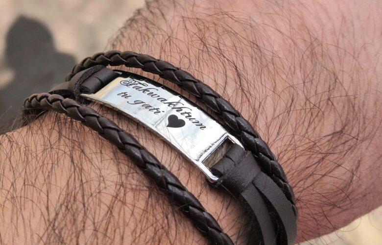 гравировка на браслете для мужчины